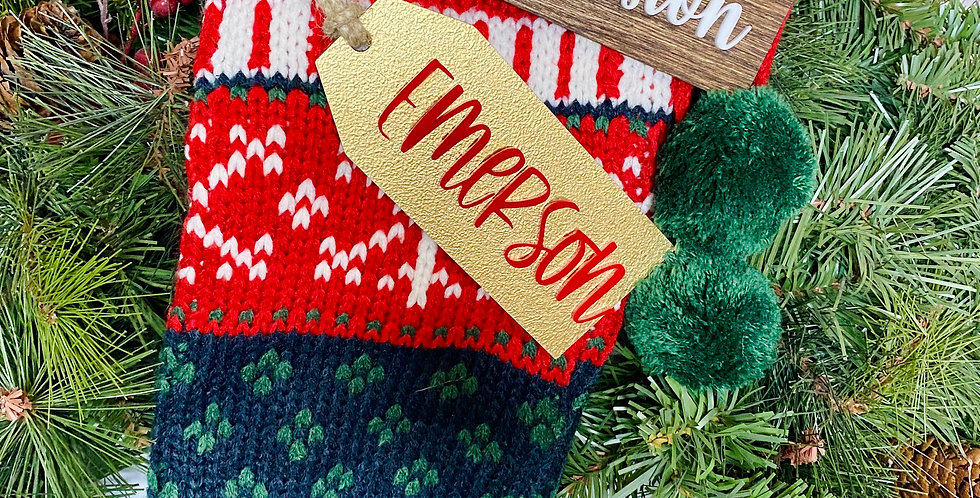 Christmas Stocking Name Tags