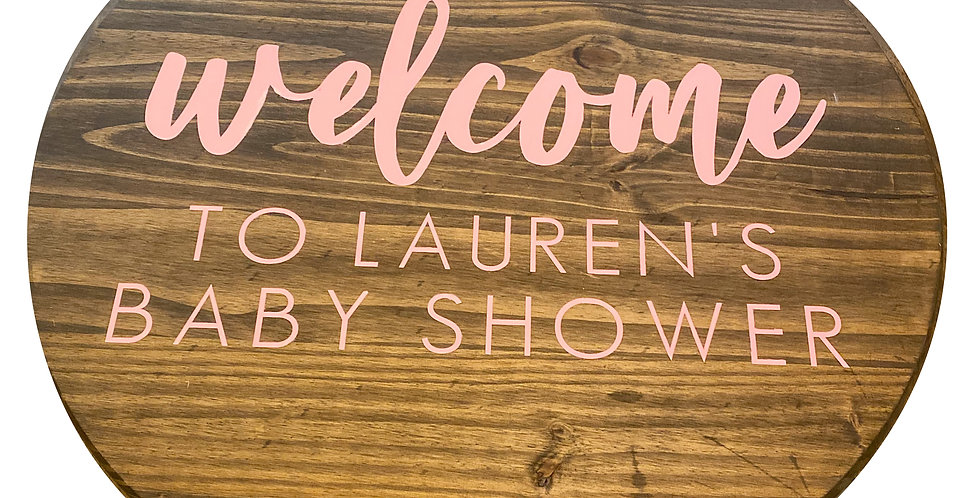 Event Welcome Sign