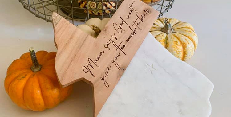Texas Wood and Marble Serving Board
