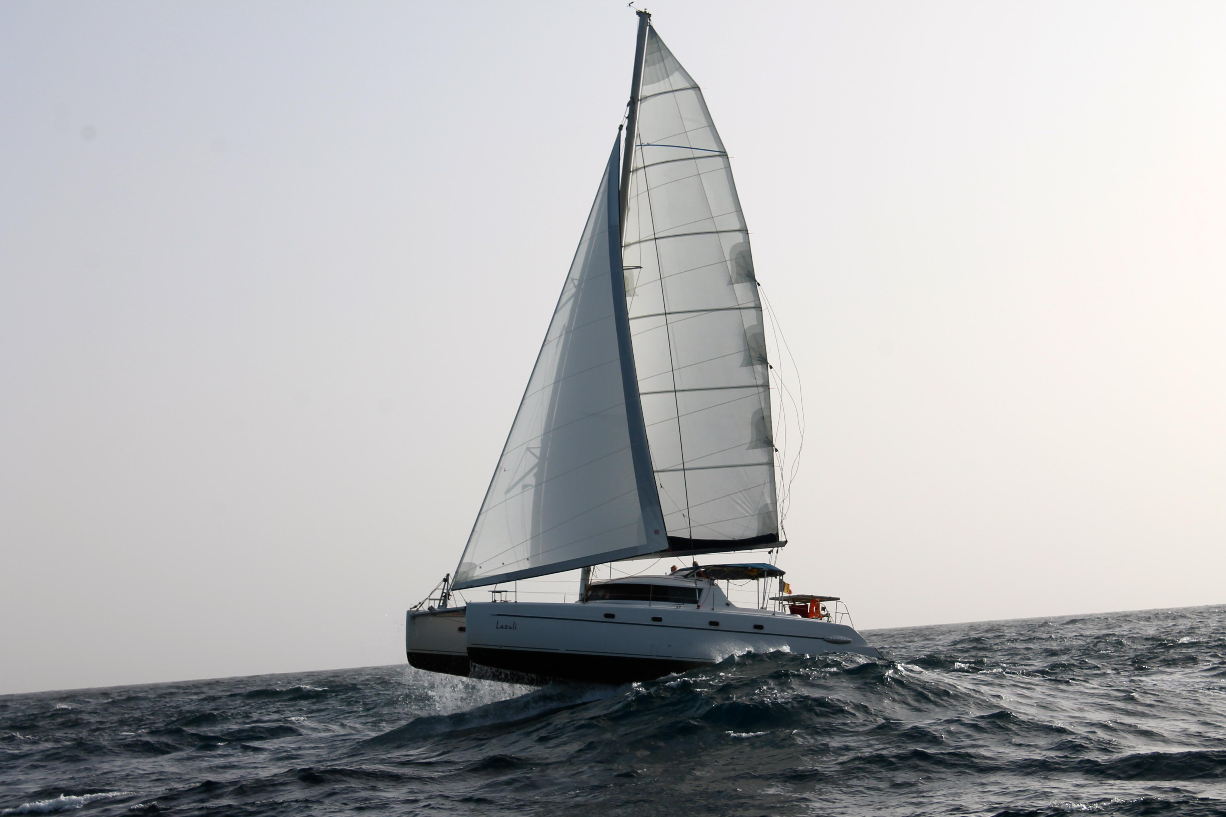 While sailing