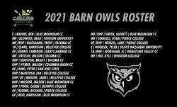 2021 BARN OWLS ROSTER