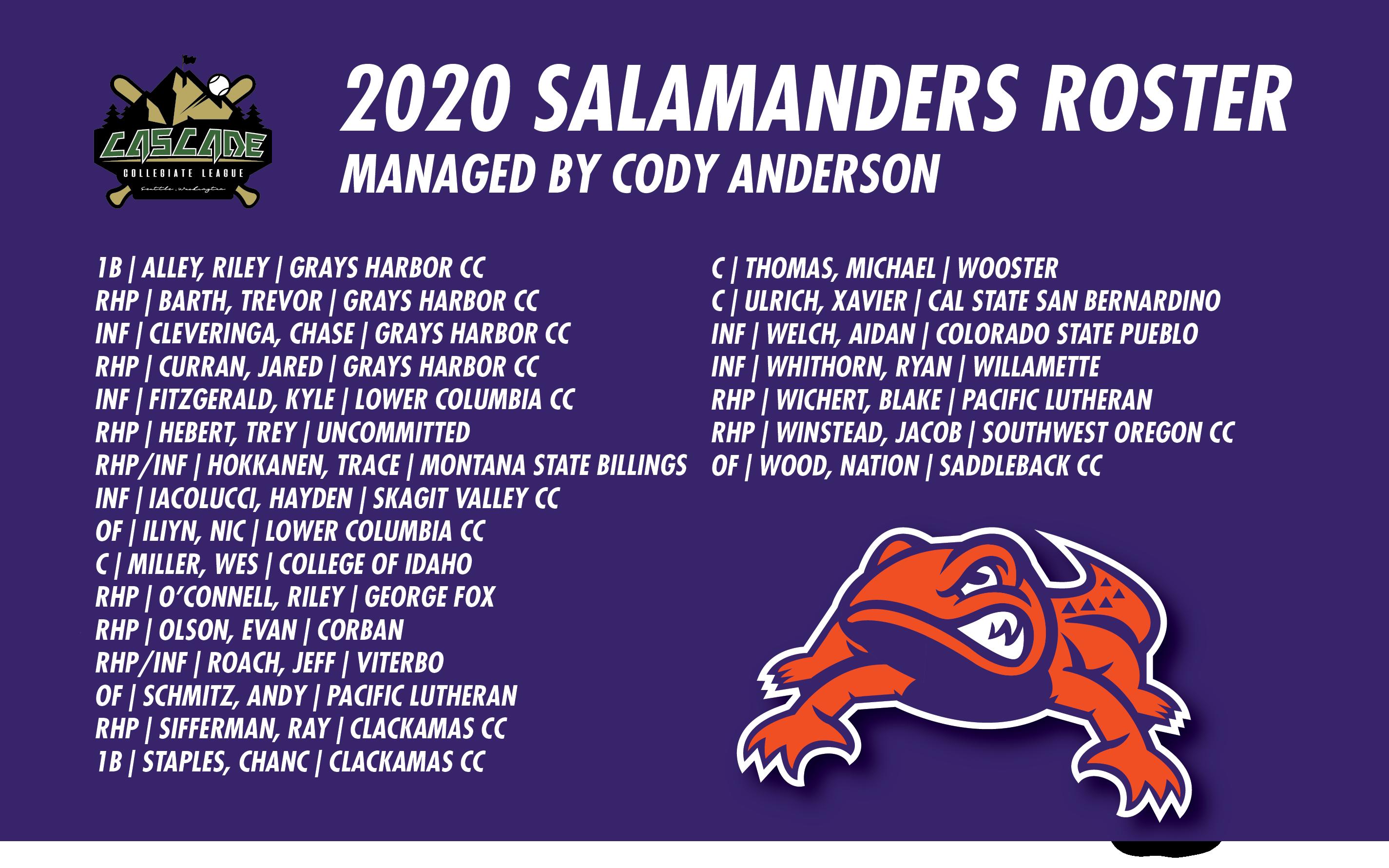 2020 SALAMANDERS ROSTER