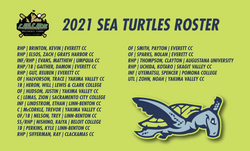 2021 SEA TURTLES ROSTER