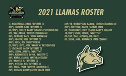 2021 LLAMAS ROSTER