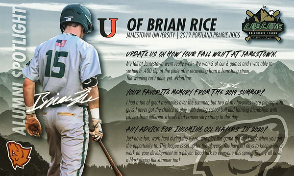 Brian Rice Alumni Spotlight