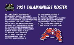 2021 SALAMANDERS ROSTER
