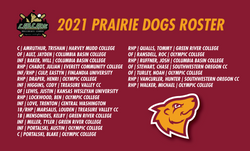 2021 PRAIRIE DOGS ROSTER