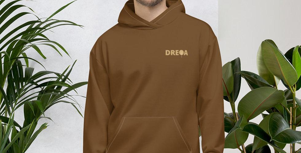 DREQA Hoodie (brown on gold)
