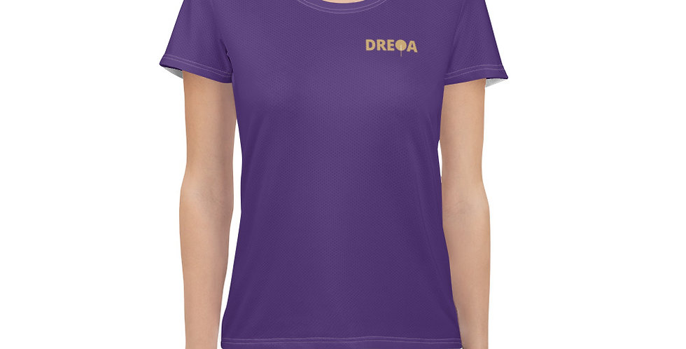 DREQA Purple Table Tennis Wear Women's T-shirt
