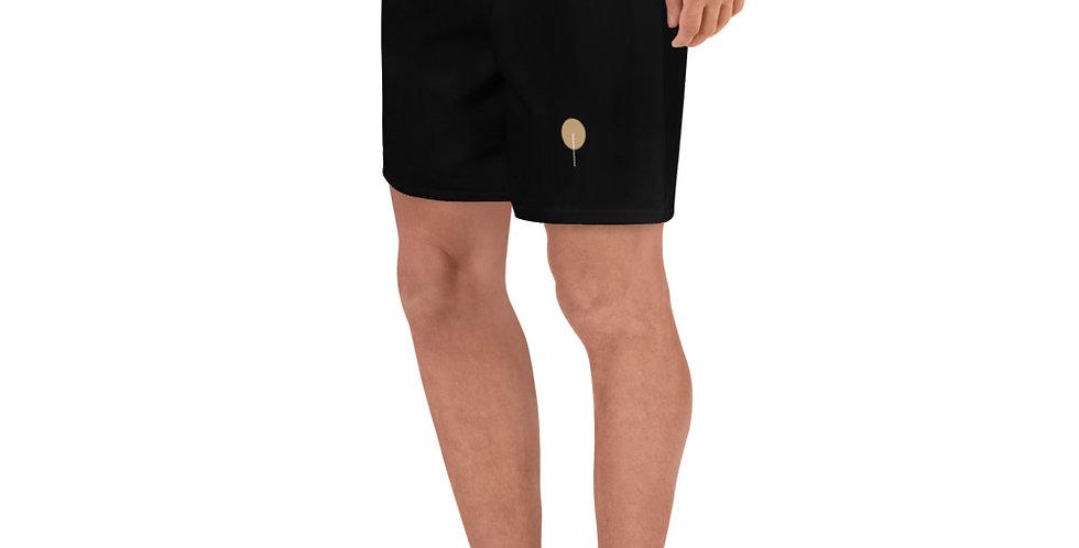 DREQA's Golden Paddle Men's Black Athletic Long Shorts
