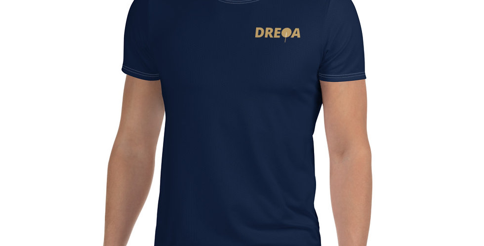 DREQA Navy Table Tennis Wear Men's T-shirt
