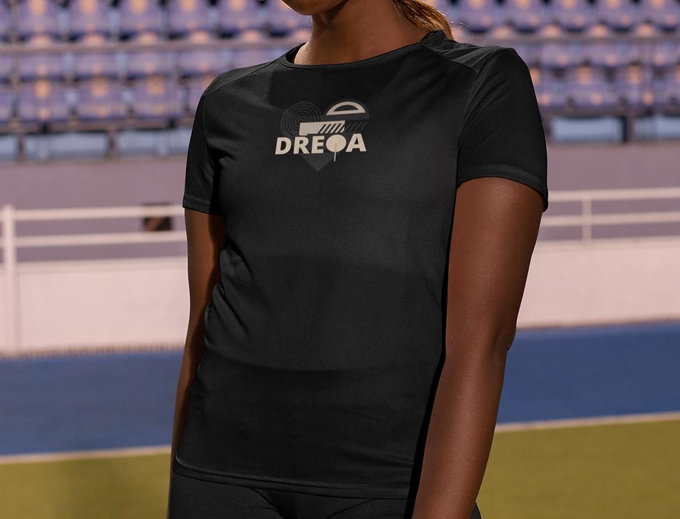 DREQAFAM Women's Table Tennis Wear (Black on Black)