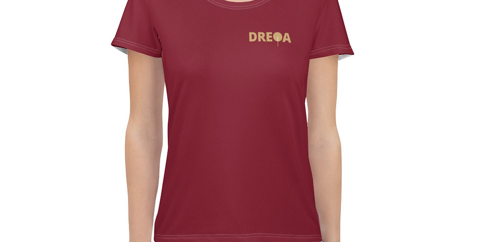 DREQA Marron Table Tennis Wear Women's T-shirt