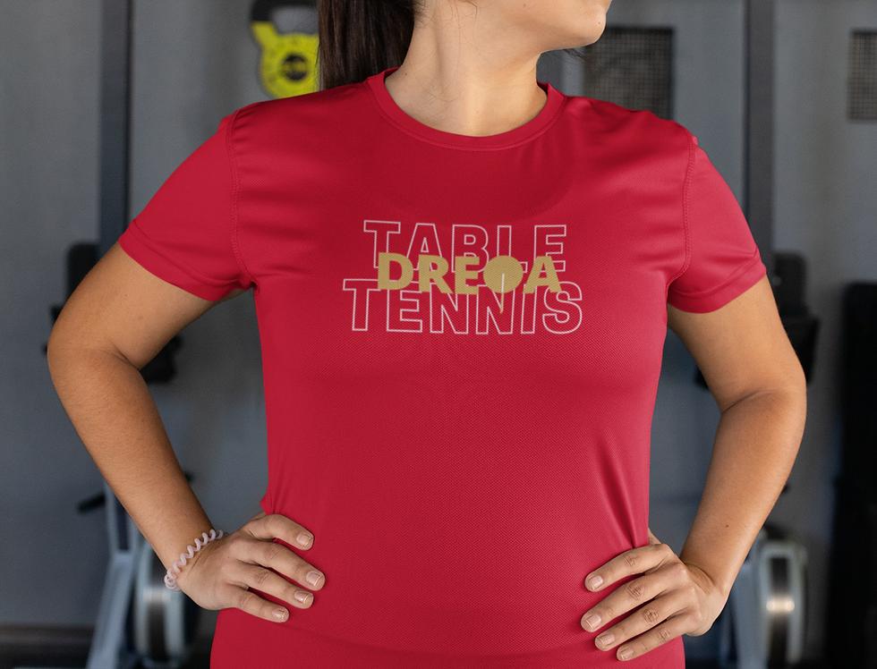 DREQA Table Tennis Wear Red Women's T-shirt