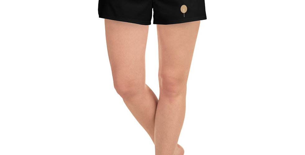 DREQA Golden Paddle Women's Black Athletic Short Shorts