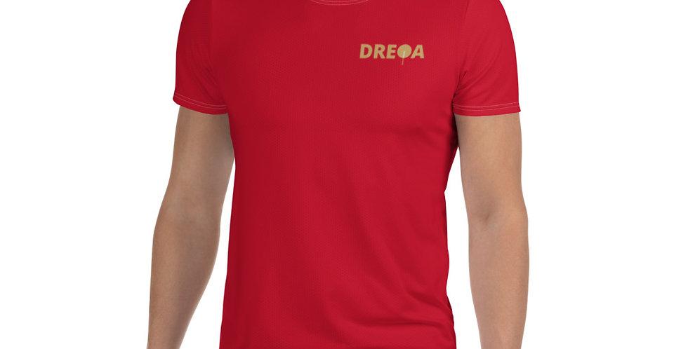 DREQA Red Table Tennis Wear Men's T-shirt