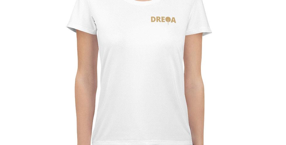 DREQA White Table Tennis Wear Women's T-shirt