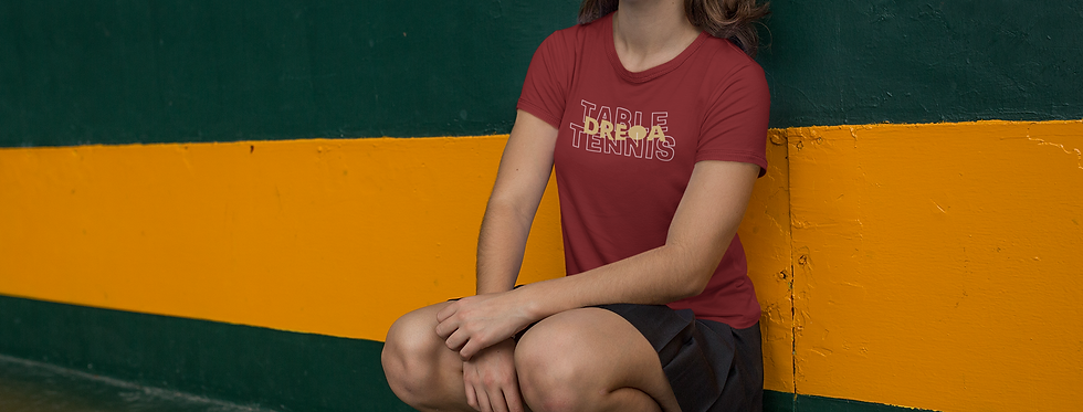 DREQA Table Tennis Wear Marron Women's Athletic T-Shirt