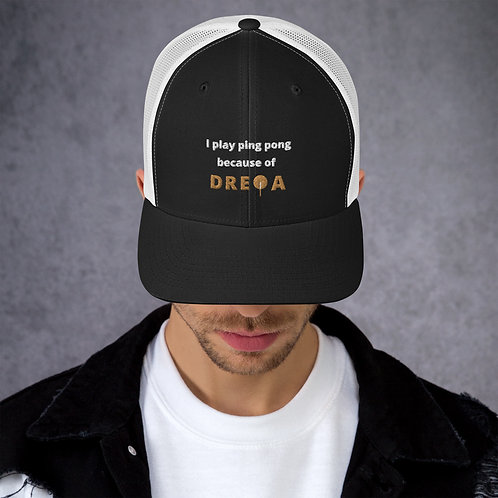 Black White DREQA Hat