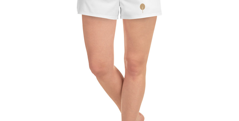 DREQA Golden Paddle Women's White Athletic Short Shorts