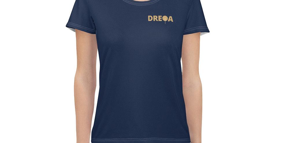 DREQA Navy Table Tennis Wear Women's T-shirt
