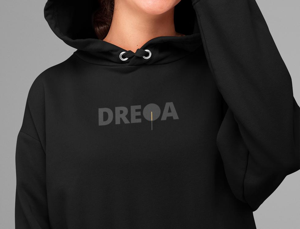 DREQA Black Logo Hoodie