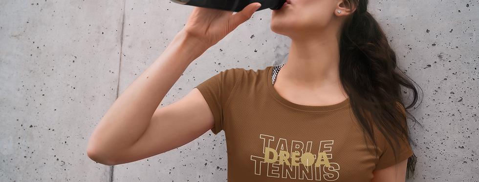 DREQA Table Tennis Wear Dark Brown Women's T-shirt