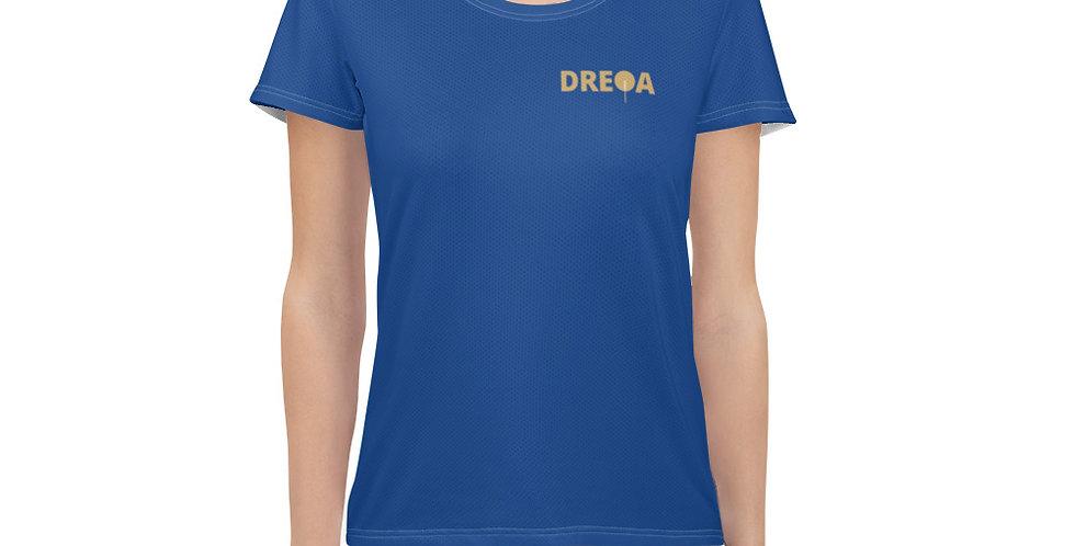 DREQA Blue Table Tennis Wear Women's T-shirt