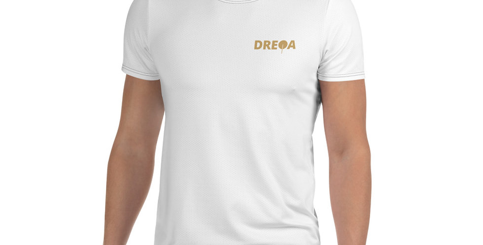 DREQA White Table Tennis Wear Men's T-shirt