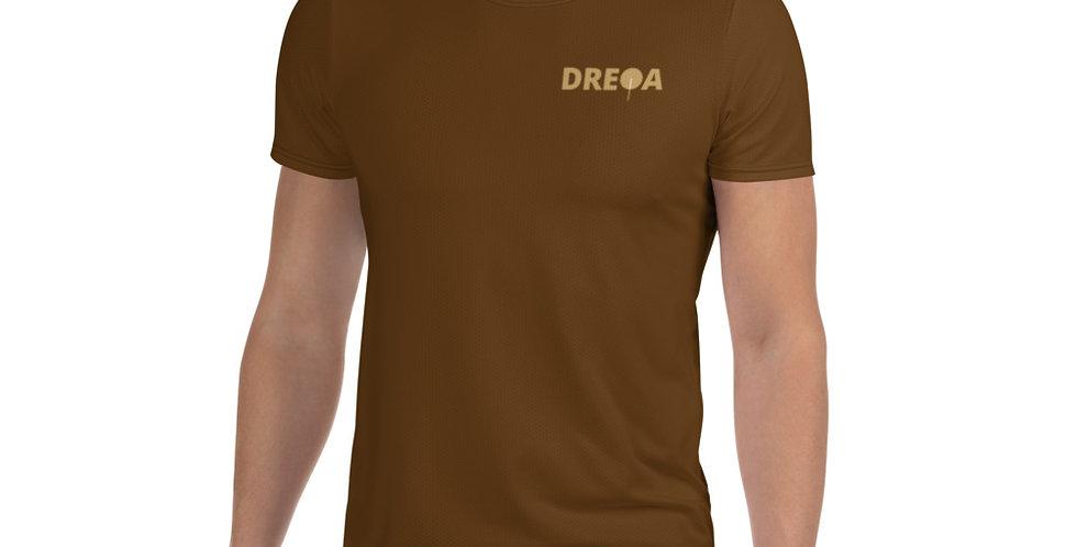 DREQA Brown Table Tennis Wear Men's T-shirt