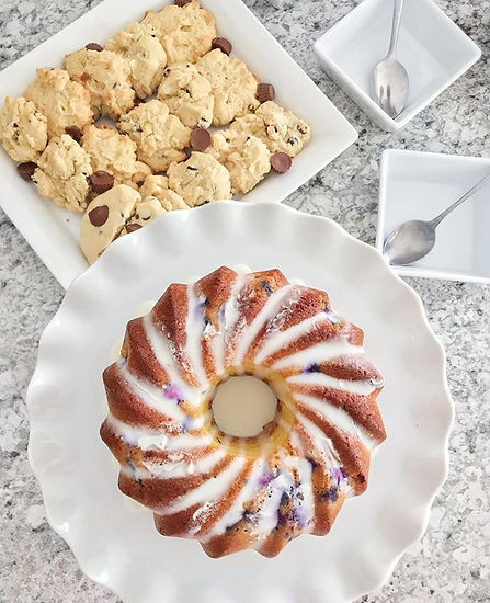 Lavender bunt cake and it turned out ama