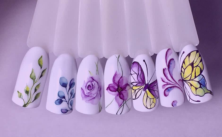 Дизайн ногтей Роспись кистью (1 ноготь)
