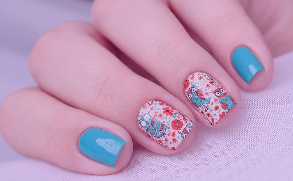 Дизайн ногтей Аппликация