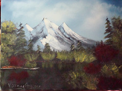 LS 1025 dark waters and mountain 18 x 24