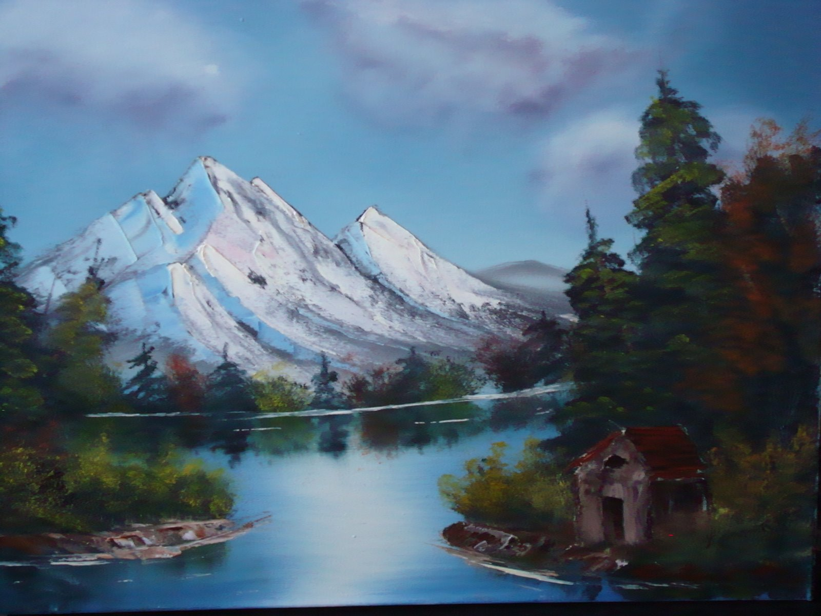 LS 1017 Mountains and Cabin 18 x 24