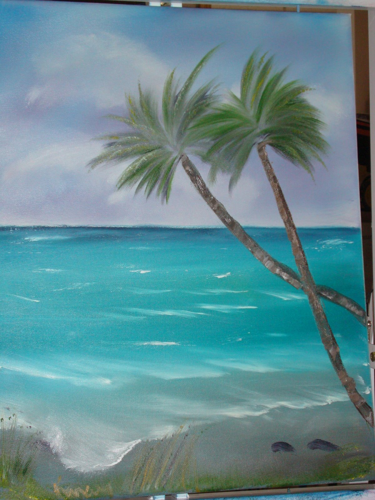 16 x 20 Palms over water_SEA 1009