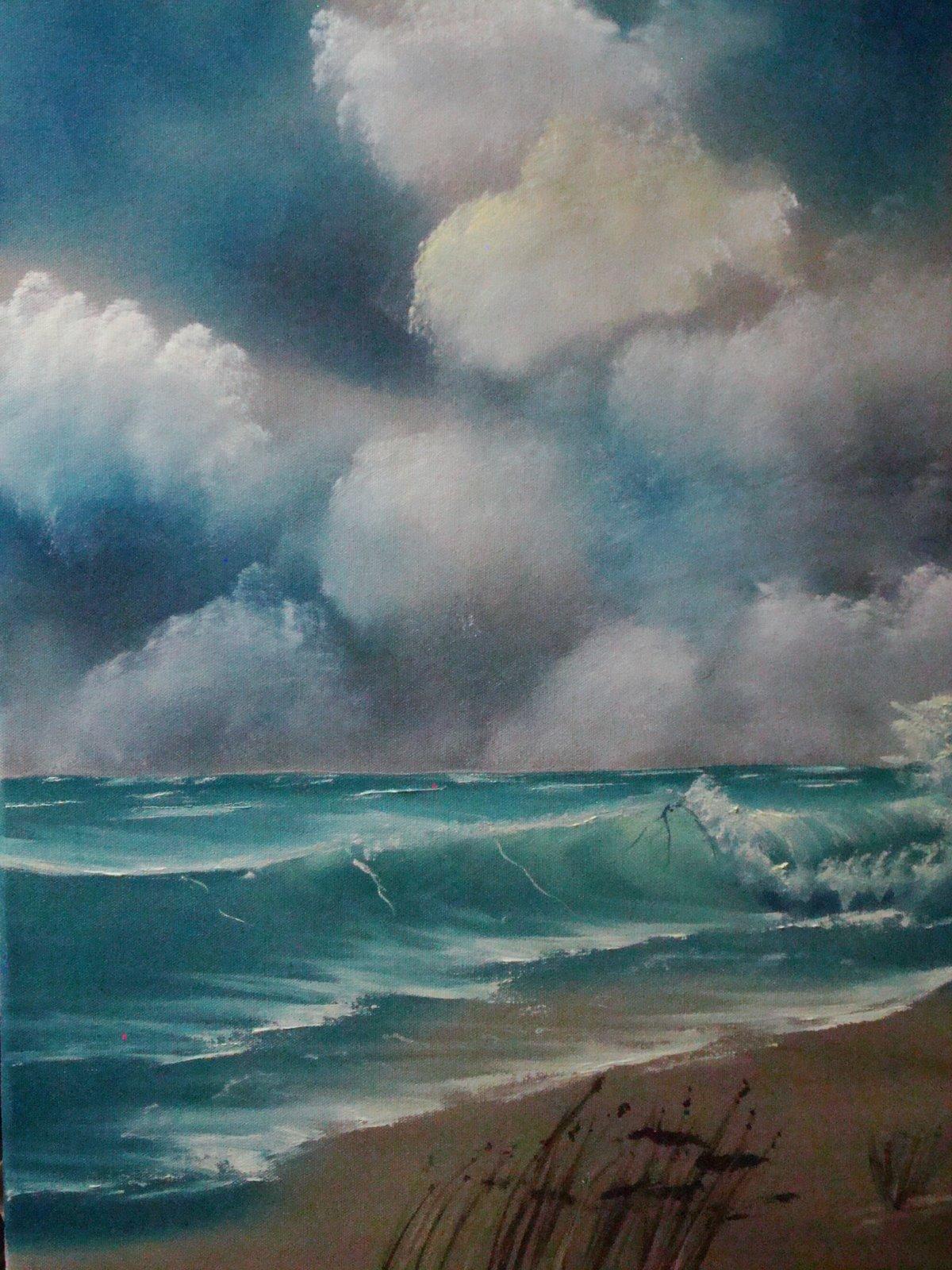 SEA 1003 Windy Waves 18 x 24