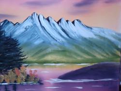 LS 1004 Mountains at Sunset 16 x20