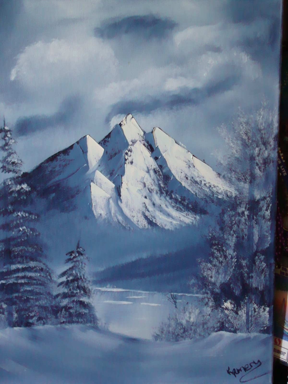 LS 1009 Winter mountain 18 x 24