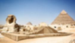 pyramids of Giza and Sphinx