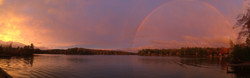Rainbow at Sunset, Fall 2014
