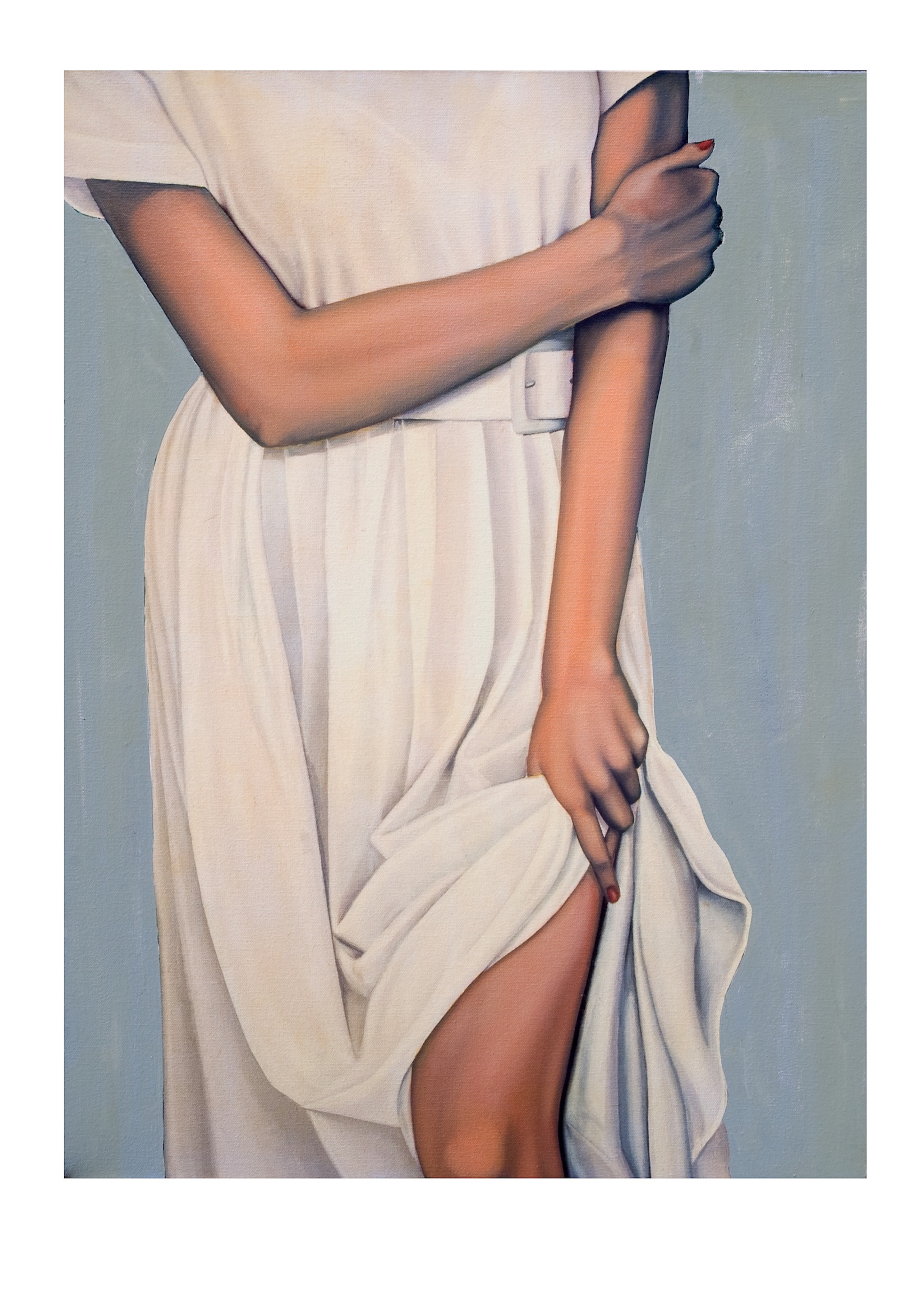 """Lady In A White Dress"""
