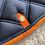 Thumbnail: Silver crown - Tapis carré marine - marine - orange