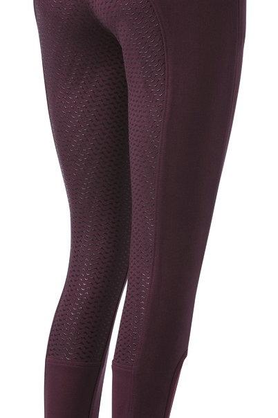Equithème- Pantalon bordeaux Glam 3/4 silicone