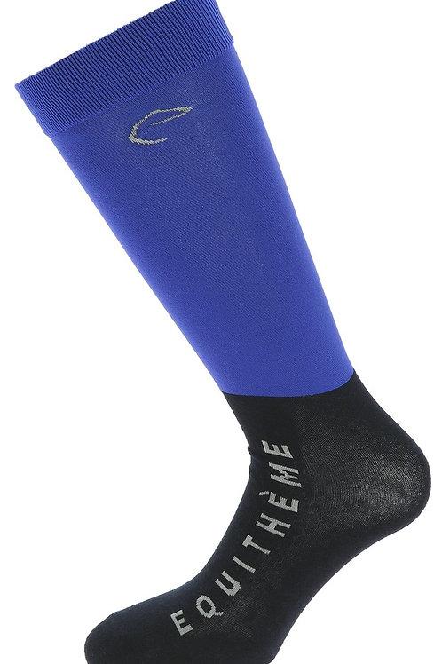 Equithème- Chaussettes compet bleu roi/noir