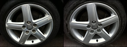 before and after alloy repair