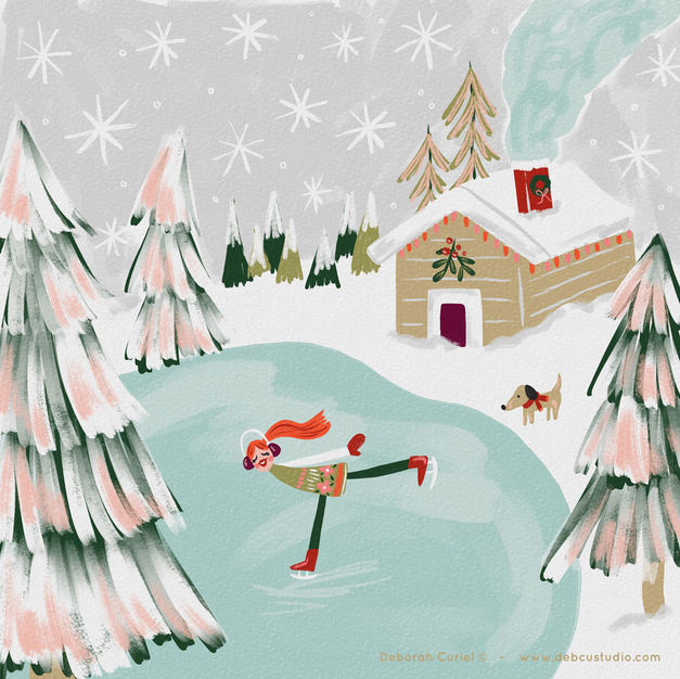 Winter_village_illustration_deborah_curi