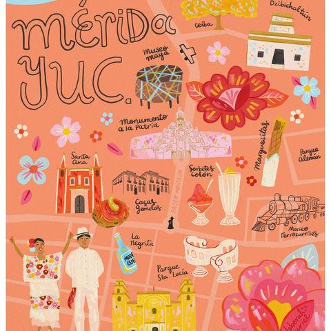 Mapa ilustrado Merida