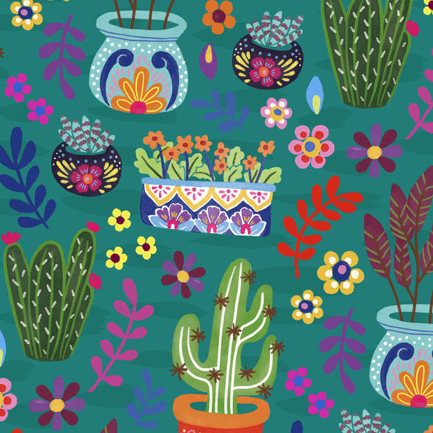 cactus_pattern_flowers_flores_floral_ill