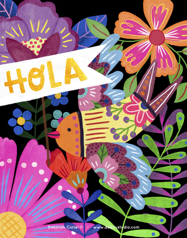 bird_floral_mexico_illustration_ilustrac